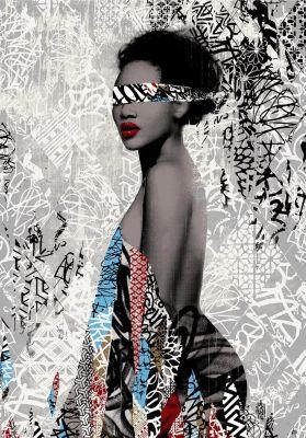 Hush Limited edition contemporary urban graffiti art print from Savaged Soul art gallery