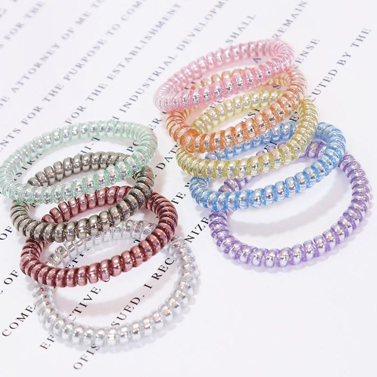 New Korean High Quality Candy Color Telephone Line Elastic Hair Bands Women Hair Accessories Girl Rubber Bands Simple Hair Ropes  #dress #style #fashion #instalike #instafashion #cute #iwant #glam #love #ootd
