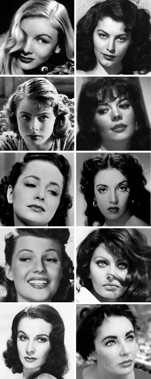 Old Hollywood Glamour Leading Ladies - Rita Hayworth and Vivien Leigh ♡♡♡♡