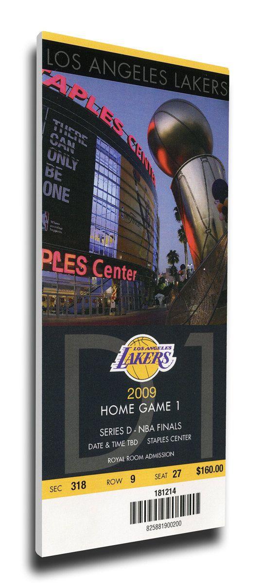 2009 NBA Finals Canvas Mega Ticket - Game 1 - Los Angeles Lakers