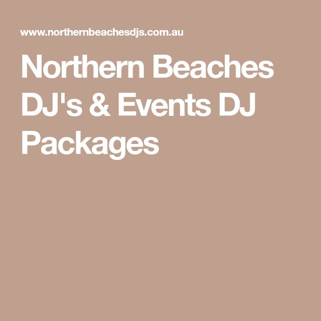 Northern Beaches DJ's & Events DJ Packages