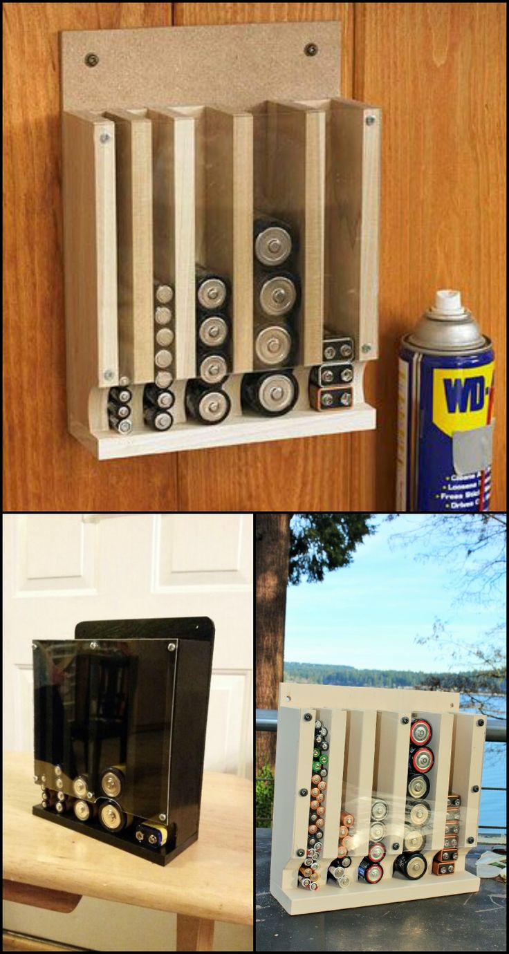 Batteries! It seems that half the things in the average home need a battery! Remotes, flashlights, cameras, smoke alarms and the mouse in your hand right now :) How do you store your batteries? If you answered 'in a drawer', then this DIY storage project might interest you! http://diyprojects.ideas2live4.com/2015/11/23/homemade-drop-down-battery-dispenser/ This drop down battery dispenser is one of the better ways of organizing your supply as it uses the first in first out method.