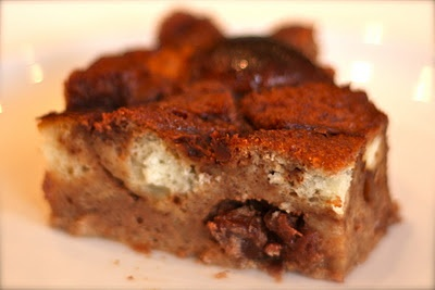 Four-Star Chocolate Bread Pudding with plump dried cherries. :)