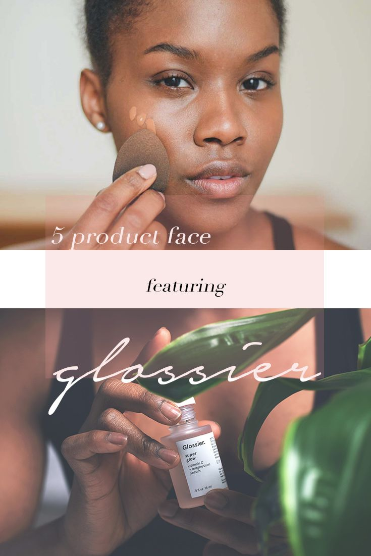 I challenged myself to do a 5 product face--using only Glossier!  I've been curious about how the line held up against darker skin tones, and I found my answer!  See the full review over on the blog:-)