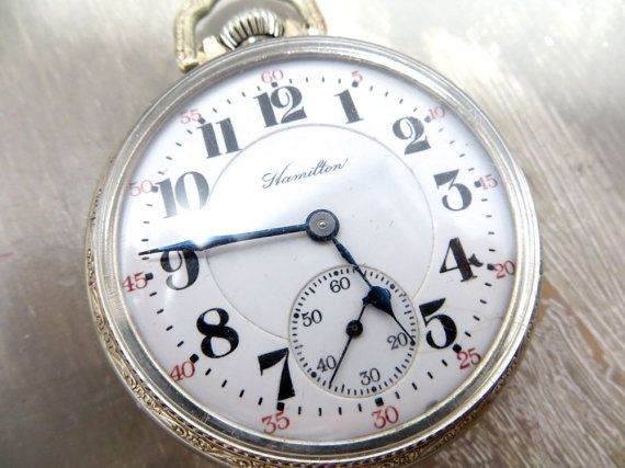 Hamilton Pocket Watch Railroad Watch by VintageShoppingSpree, $345.00
