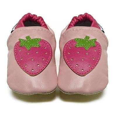 Strawberries - Soft Sole Baby Shoes | Fox & Frog I FREE SHIPPING Australia Wide