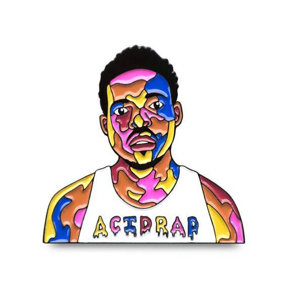Chance Acid Rapper  Enamel Pin  Hip-hop Rap