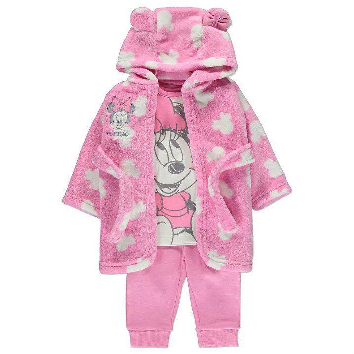 Disney Minni Hiiri vauvan pyjama & kylpytakki setti