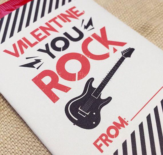 Printable Valentine You Rock Wrapper Pop Rock by konadesigns