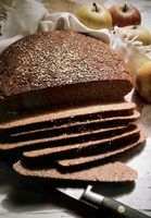 German black bread is a form of rye bread that keeps for a long time.