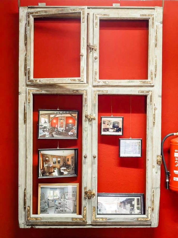 Dekotipp altes Fenster zu Bilderrahmen Antikmarkt Luckenwalde