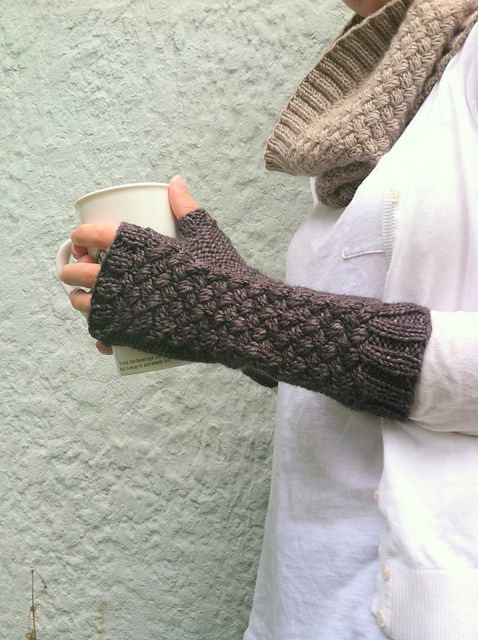 Ravelry: Basketcase Mitts pattern by Amy Miller
