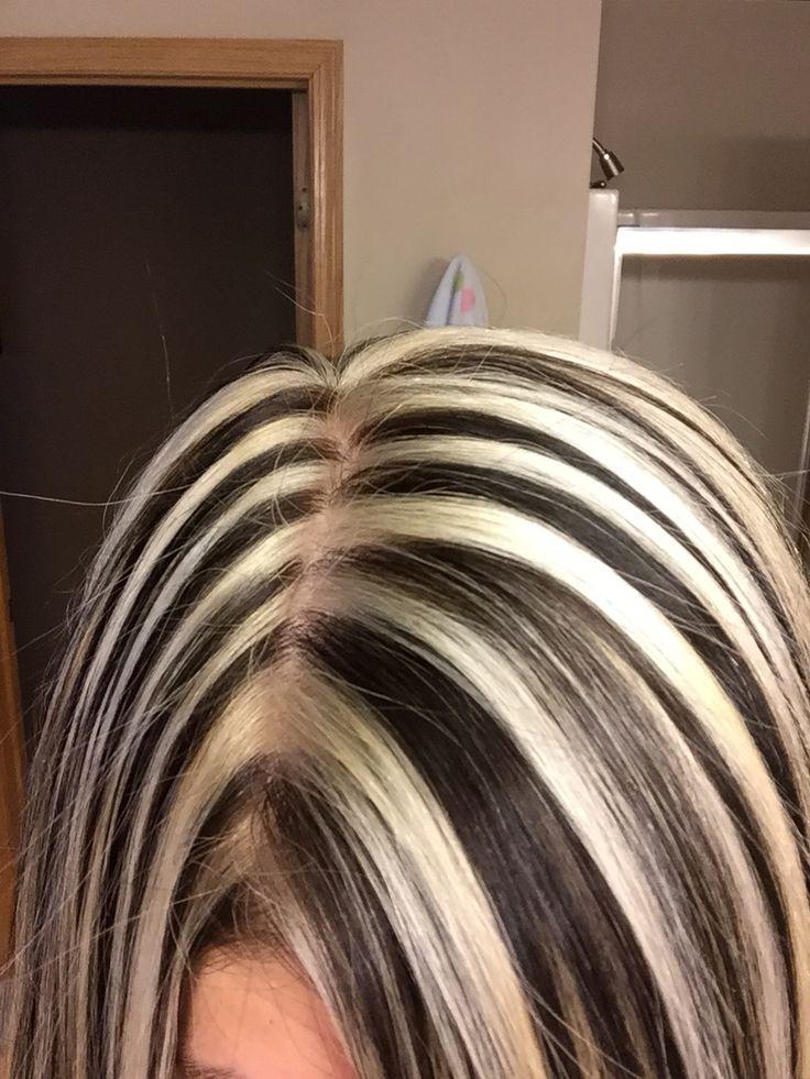 940 best brown blonde highlight images on pinterest hair stylist laurie platinum blonde with dark dramatic highlightsdark hair pmusecretfo Choice Image