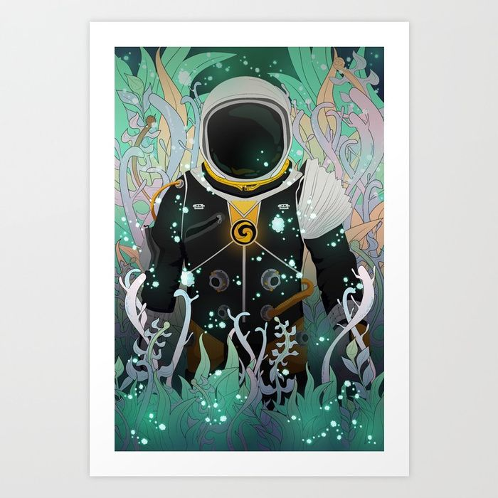 """Xenesis App"" #society6 #digital #illustration #space #astronaut #nature #plants #life #particles #decor #lights #explore #traveler #universe #planet #forest #fantasy #scifi #adventure #alien #kids"