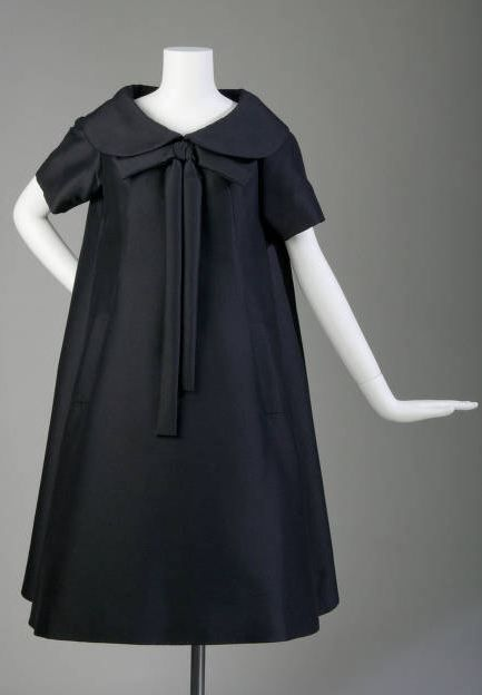 """Trapèze"" Afternoon Dress,Yves Saint Laurent for Christian Dior, Paris, France: 1958, mohair. ""This dress is from Yves Saint Laurent's historic first collection for the House of Christian Dior in 1958. The Trapèze was introduced with this collection."""