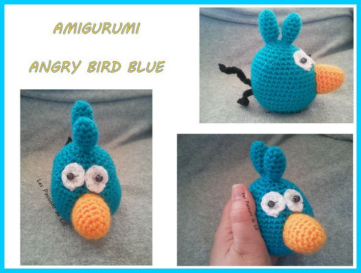 Blue Angry Bird Amigurumi Pattern : 17 Best images about Crochet on Pinterest Beaded ...