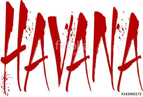 Havana text sign illustration creato da Morgan