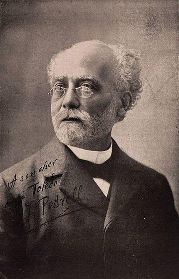FELIPE PEDRELL Felipe Pedrell Sabaté[1] [2] [3] (Tortosa, 19 de febrero de 1841 - Barcelona, 19 de agosto de 1922)[4] fue un compositor y músico español. Una de sus labores fue la creación de la musicología moderna española. Fue el primer músico que se encargó de estudiar la música tradicional o folclórica española (etnomusicología), encontrando particularmente en el flamenco la inspiración para emprender la búsqueda de una música nacional en España.[5] Gracias a su labor, los compositores…