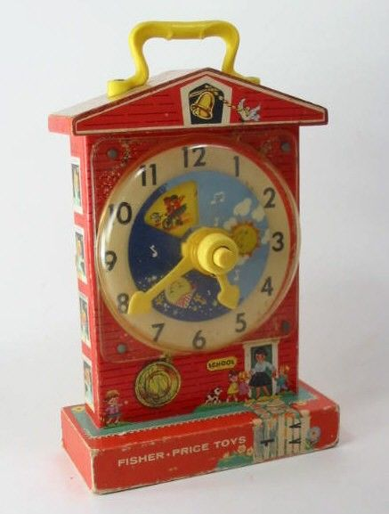 Fisher Price Clock... I now have the Hallmark Christmas ornament of this toy... so cute!