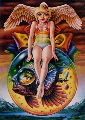 夢幻玉  Ball of the dream of a phantom 1980年「夢幻玉」227X158mmSM キャンバス・油彩 銀座ギャラリーデコール