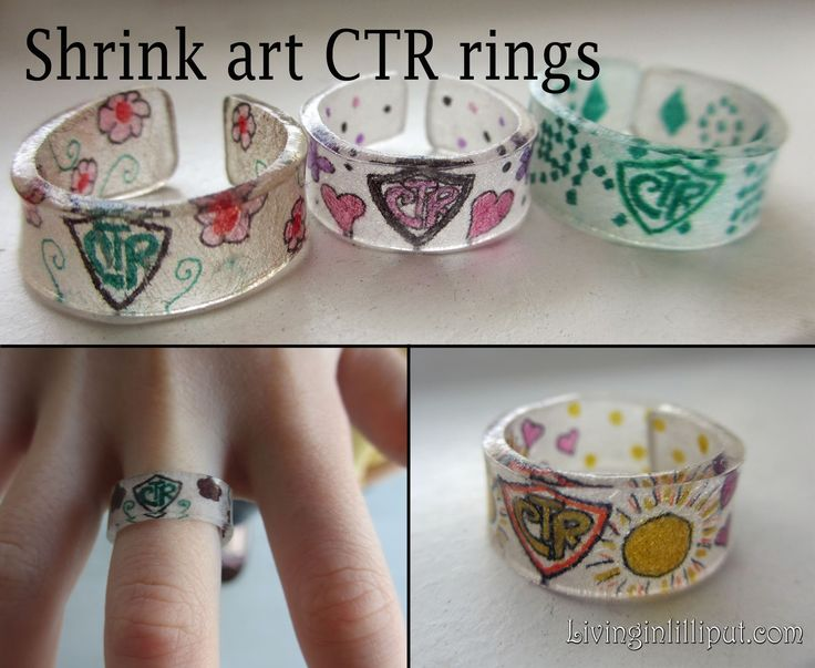 Shrink art CTR rings (or any rings, really) for kids to make and personalize.