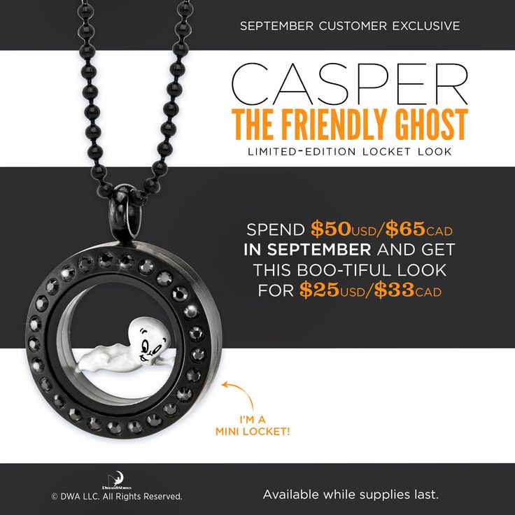 Origami Owl New Locket! Origami Owl Casper Lockets celebrate the new movie coming out. Click to shop all the Origami Owl Fall 2017 Collection along with special Origami Owl Sale items. Email kristy@foreversparkly.com for a free gift!