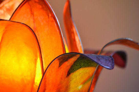 lampada fiore di loto tramonto africano di fiorediluce su Etsy