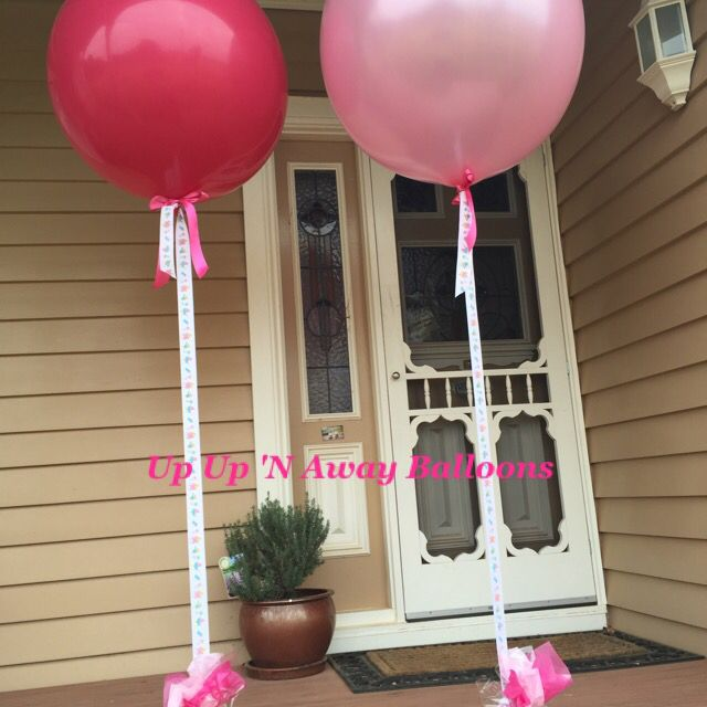 Baby Shower Balloons in Fashion Wildberry & Pastel Pearl Pink