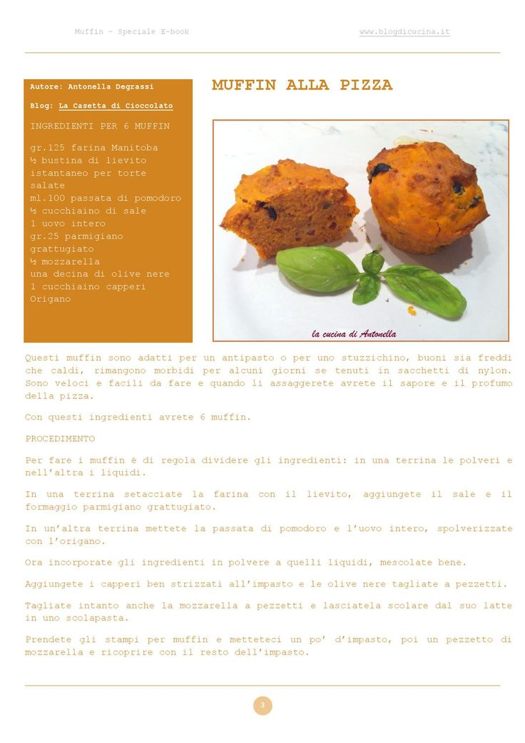 Speciale Ricette Muffin by Blog di Cucina - issuu