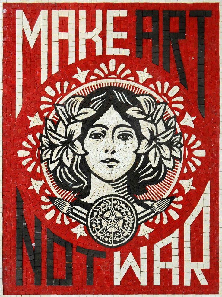 Make Art Not War Mosaic Poster