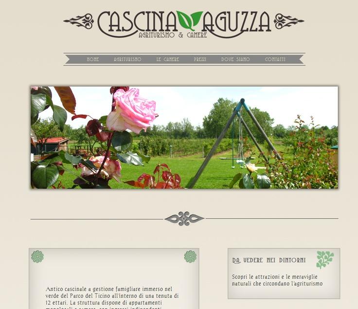 Web Site per agriturismo aguzza, Agriturismo con camere nei pressi di Malpensa.