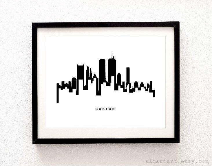 Boston Skyline Print - Boston Cityscape Print - Boston Art Print - Boston Wall Art - Modern Black and White Decor - Aldari Art by AldariArt on Etsy https://www.etsy.com/listing/244705978/boston-skyline-print-boston-cityscape