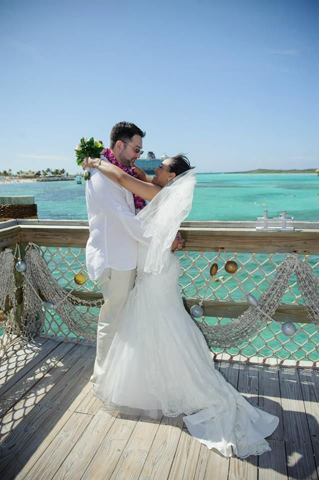Wedding on castaway cay april 2014 disney cruise line for Wedding dresses for cruise ship