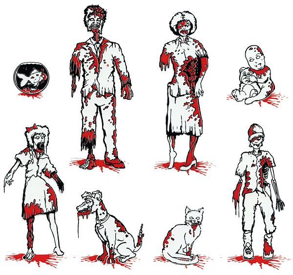 Zombie Family Car Decals....if I'm gonna put a bunch of dumb stickers on my car's back window, it's gonna be these.Families Decals,  Hockey Puck, Cars Decals, Baby Dogs, Sticks Figures, Cars Stickers, Families Cars, Car Decals, Zombies Families