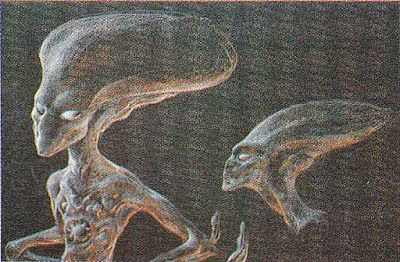 Vintage INDEPENDENCE DAY Alien Concept Art by Patrick Tatopoulos « Film Sketchr