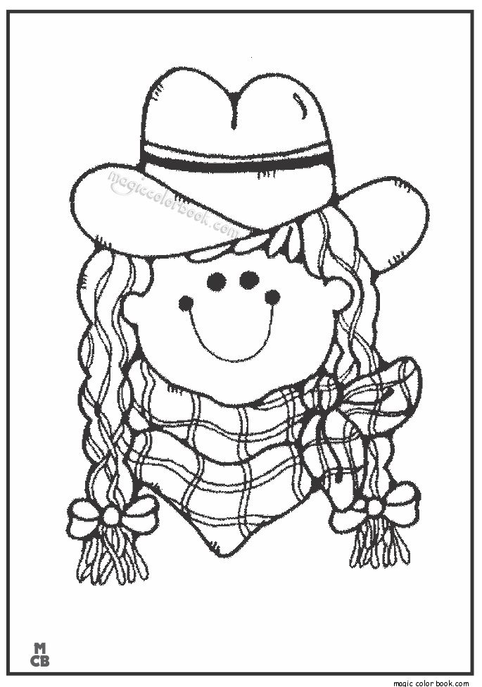 coloring cowboy book pages - photo#41