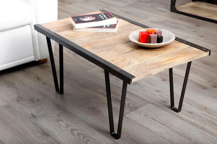 Table palette industrielle - Table basse palette industrielle vintage ...