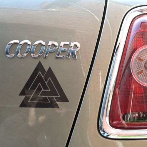 Make an impression with a striking mjolnir thors hammer sticker decal on your car motorbike or where ever you