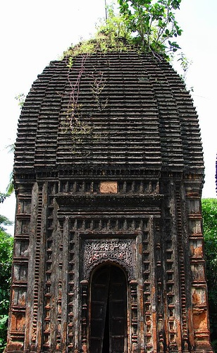 An ancient Shiva temple at a village named MOUKHIRA, district Burdwan, West Bengal, India
