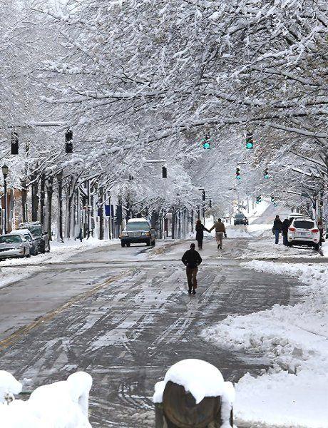 Winter Wonderland on Hillsborough Street - Raleigh, North Carolina, U.S | by Matt Robinson