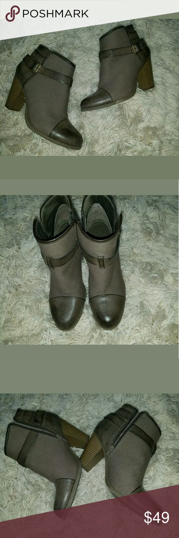 Lauren Conrad Ankle Bootie Boots Strappy Brown 9.5 Lauren Conrad Ankle Bootie Boots Strappy Brown 9.5M  3.5 inch heel. Shoes in excellent used condition. Barely any wear.    LB LC Lauren Conrad Shoes Ankle Boots & Booties