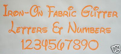 #Iron-on glitter letters neon #orange + free hot-fix #rhinestones,  View more on the LINK: http://www.zeppy.io/product/gb/2/142050735825/