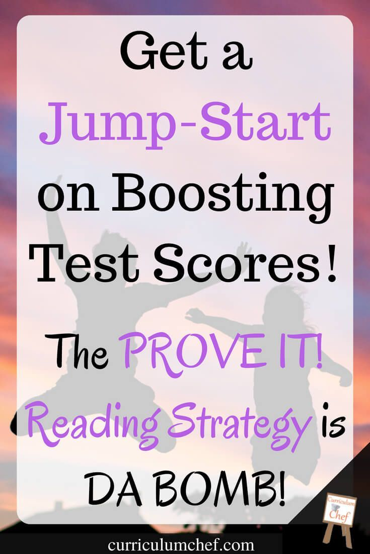 Prove It Reading Strategy: Jump-Start Reading Comprehension