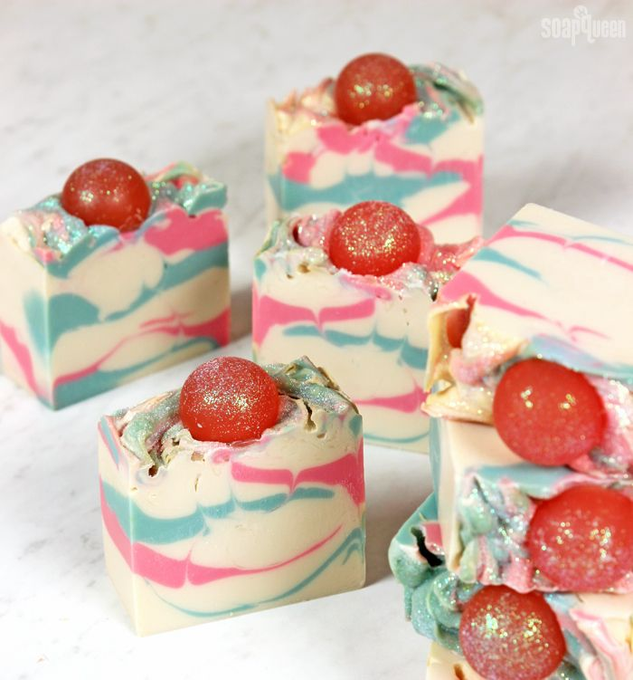 This Cotton Candy Cold Process Soap looks and smells like the real thing! Learn how to make it in this step-by-step tutorial.