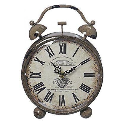 30 eur Despertador Vintage Port reloj marrón con números romanos