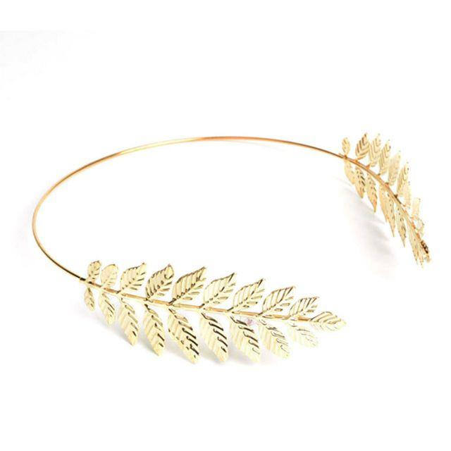 Trendy Golden Leaf Haarband Bruiloft Bruids Haaraccessoires Hoofd hoepel Vrouwen Mode-sieraden