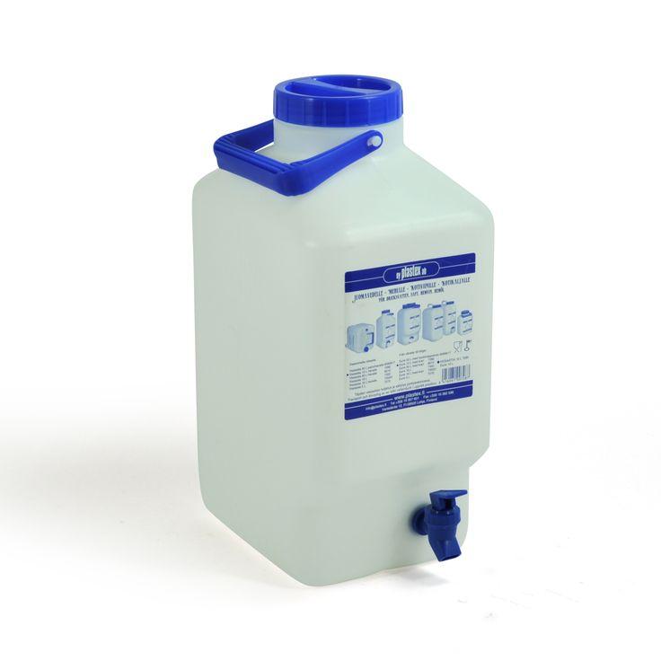 10 L vesiastia hanalla. Tämä malli on erityisen suosittu. Se on valmistettu Suomessa ja siinä on käytetty elintarvikelaatuista muovia. Water container with a tap. Made in Finland.