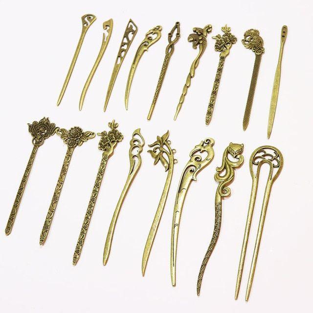 Vintage Hair Stick Hair Pin Women Hair Chopsticks Hair Making Accessories