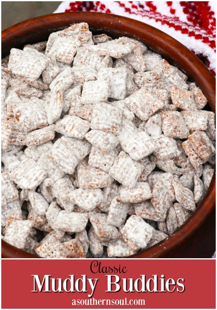 Classic Muddy Buddies A Southern Soul In 2020 Homemade Snacks Recipes Chex Mix Recipes