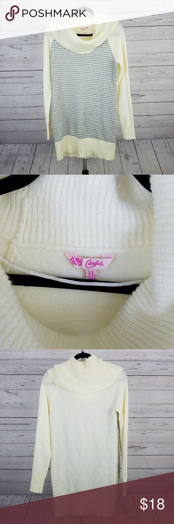 Women's Candie's Cowl Neck Sweater Size XL This is a beautiful and excellent used condition women's cowl neck sweater in size XL by Candie's. Candie's Sweaters Cowl & Turtlenecks